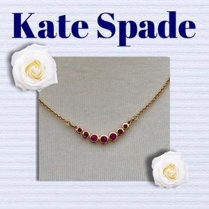 Kate Spade necklace with pink stones